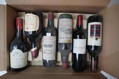 20- 12 bouteilles diverses : Haut-Médoc,...