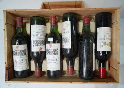 42- 7 bouteilles de Château de Portets Graves...