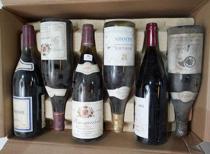 10- 12 bouteilles de vins divers : Beaune,...