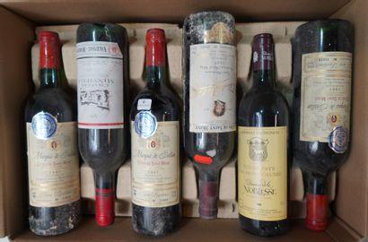 6- 12 bouteilles : Sauternes, Musar et Côtes...