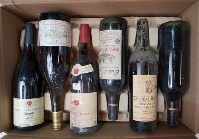 35- 12 bouteilles de vins divers : Bordeaux,...