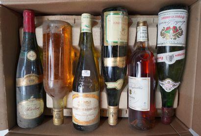 13- 12 bouteilles : Alsace, Bandol, ...