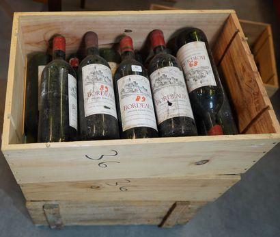 36- 35 bouteilles de Bordeaux Rouge 1989...