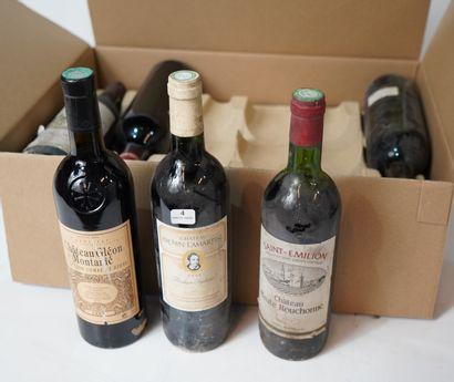 4- 12 bouteilles : Gresser Grands Poujeaux,...