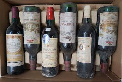 5- 12 bouteilles de Bordeaux divers : Pomerol,...