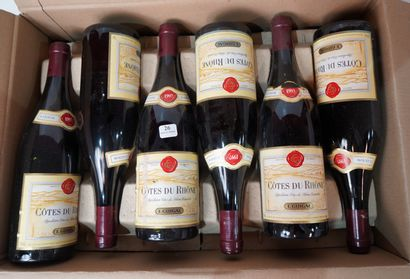 26- 12 demi-bouteilles de Côte Rotie Domaine...