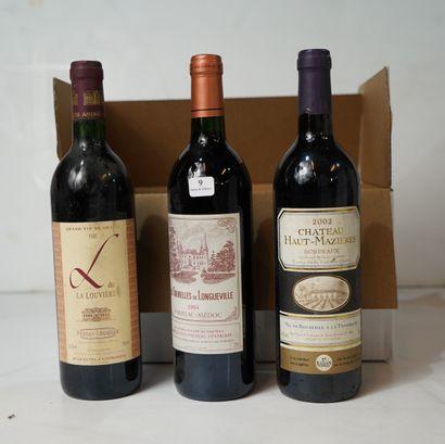 9- 4 bouteilles Les Tourelles de Longueville...