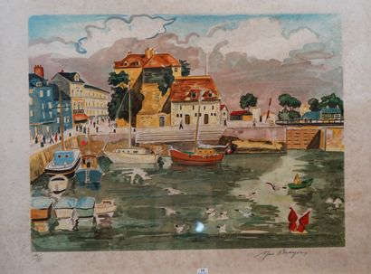 15- Yves BRAYER ''Le port'' Lithographie...