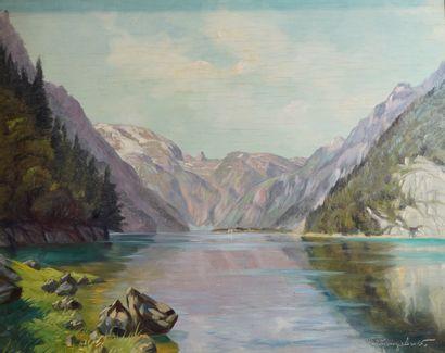 38- Ecole Allemande ''Lac de montagne''...