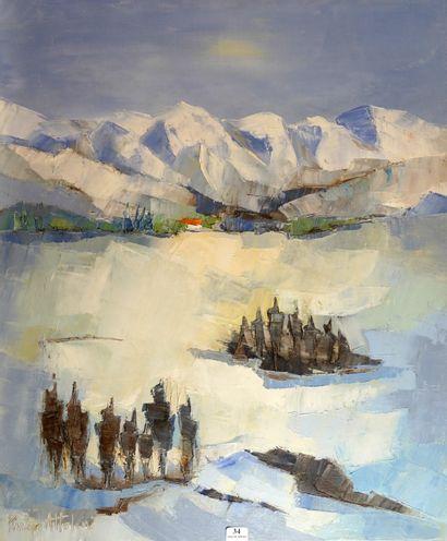 34- PIVIER-ATTOLINI ''La neige'' Huile sur...