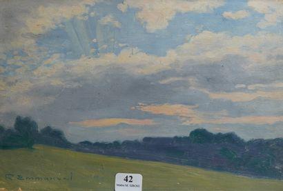 42- R. EMMANUEL ''Paysage au crépuscule''...