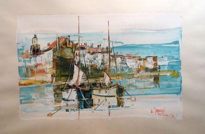 5- Ivan JOVANIC ''La Ponche, Saint-Tropez''...