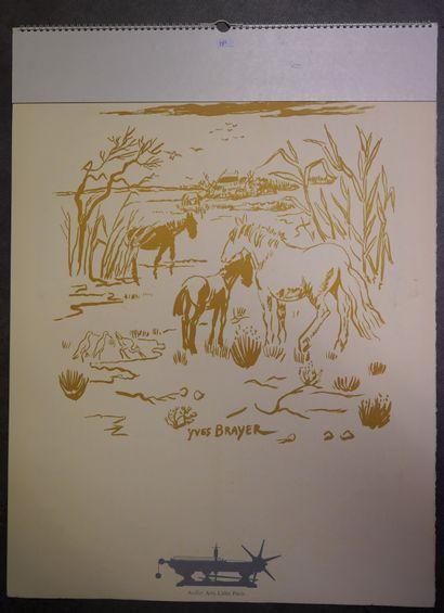 17- Cinq calendriers édités par ART LITHO...