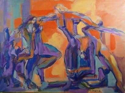 32- Philippe MAINIE ''La danse'' Huile sur...