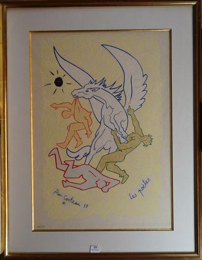 19- Jean COCTEAU d'après ''Les poètes'' Lithographie...