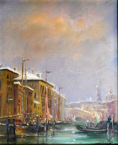 27- S. FURTIN (?) ''Vues de Venise'' Paire...