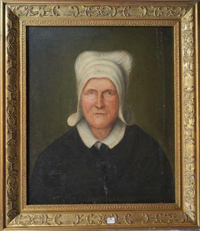 26- Ecole Française XIXème siècle ''Portrait...