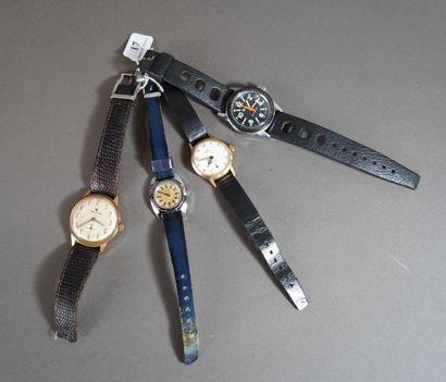 17- Lot de montres : Timex, ELP, Dauphine...