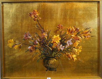 41- Pierre COMMARMOND  ''Vase de fleurs sur...