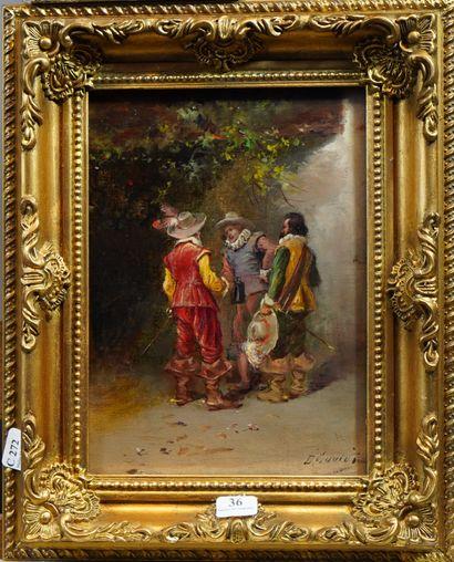 36- Ecole Française  ''Les Trois Mousquetaires''...