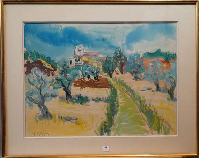 44- Georges LEFEUTRE  ''Le mas des oliviers''...
