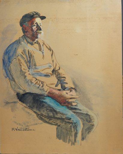 13- Madeleine WEIL-LESTIENNE  ''Pêcheur''...