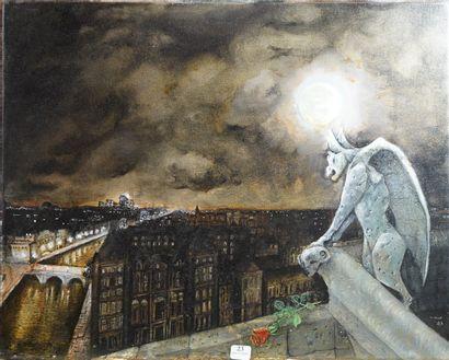23- Ecole Française  ''Gargouille de Notre-Dame...