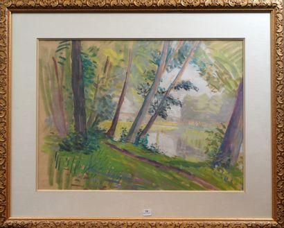 24- Henry BOYANE (1878-1948)  ''Bord de canal''...