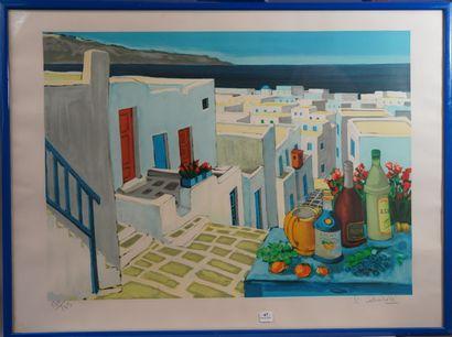 47- Jean-Claude QUILICI  ''Village en Grèce''...