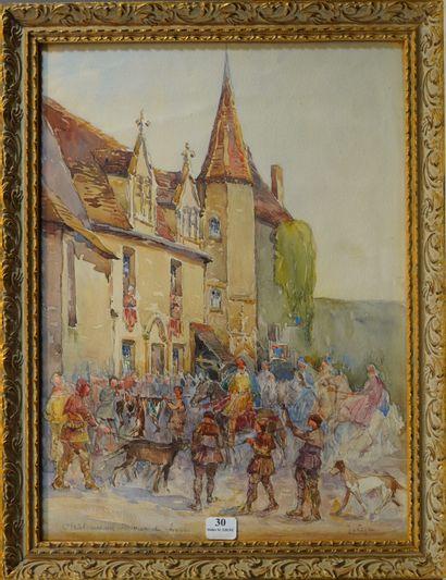 30- J. LEPEN (?)  ''Châteauneuf, retour de...