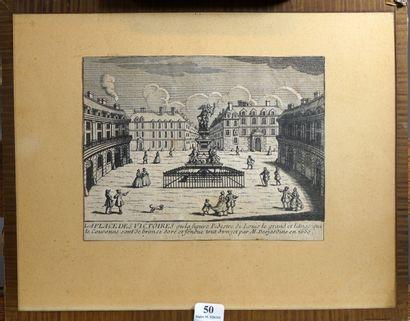 50- ''La Place des Victoires''  Gravure  13,5...