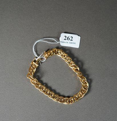 262- Bracelet en or jaune  Pds : 9,50 g
