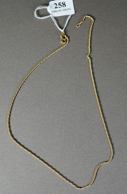 258- Chaîne en or jaune  Pds : 3,60 g