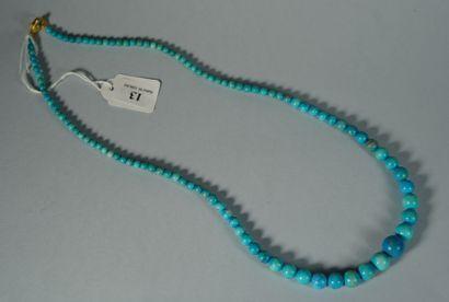 13- Collier turquoise  Longueur : 59 cm