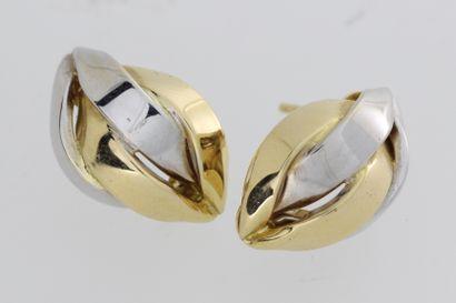 142- Paire de boucles d'oreilles en or de...