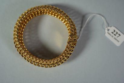 227- Bracelet en or  Pds : 40,50 g