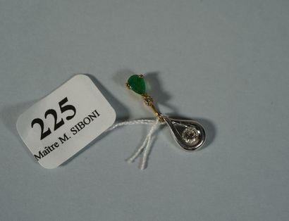 225- Lot de deux petits pendentifs, monture...