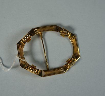 129- Monture pour broche/pendentif en or...
