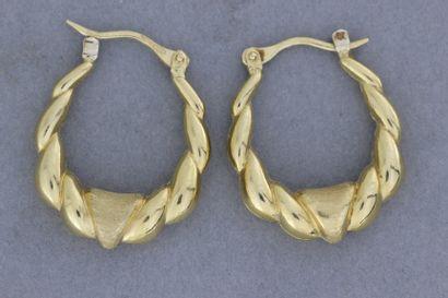 70- Paire de boucles d'oreilles créoles en...