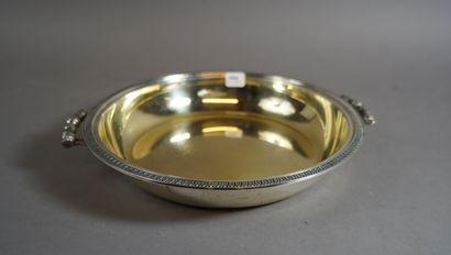 444- Coupe à anses en argent  27 x 25 cm...