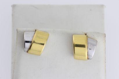 276- Paire de boucles d'oreilles en or de...