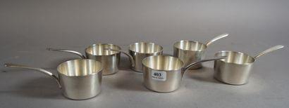 403- CHRISTOFLE  Six ''mini casseroles''...