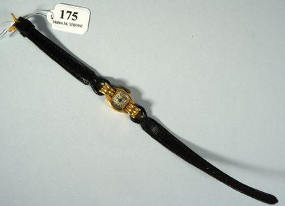 175- Montre de dame en or jaune  Bracelet...