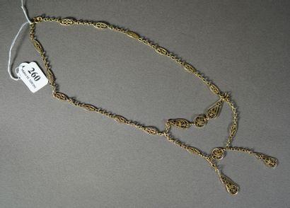 260- Collier draperie en or jaune  Pds :...