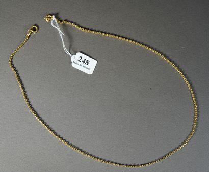 248- Chaîne en or  Pds : 9,45 g