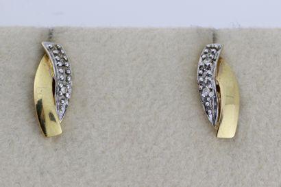191- Paire de boucles d'oreilles en or de...