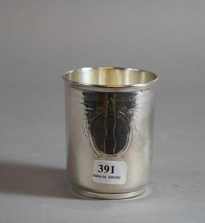 391- Timbale en argent  Pds : 74 g