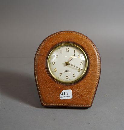 414- LONGCHAMP  Pendulette gainée de cui...