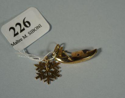 226- Breloque ''gondole et son gondolier''...