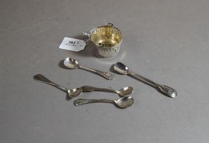 382- Lot de pelles à sel :  paire en métal...